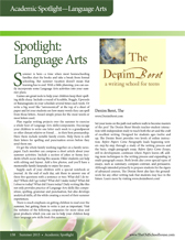 Spotlight on Language Arts