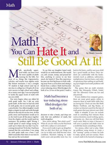 article math education