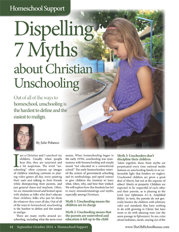 The Old Schoolhouse Magazine - September/October 2014