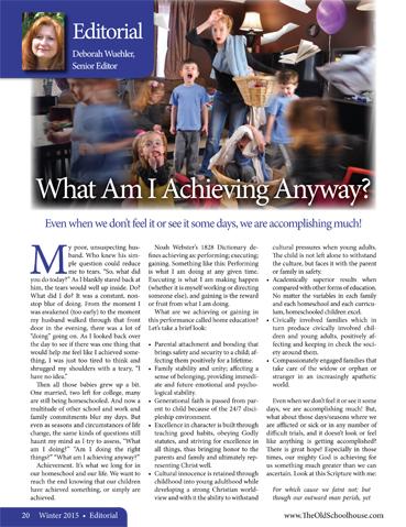 The Old Schoolhouse Magazine - Winter 2015