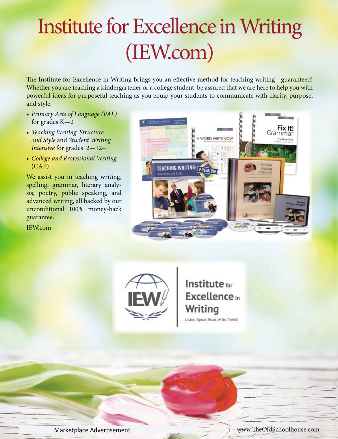 institute for excellence in writing used Find great deals on ebay for institute for excellence in writing and iew shop with confidence.