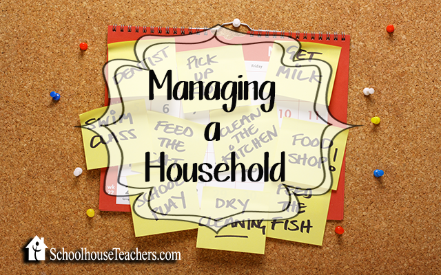 blog managing household