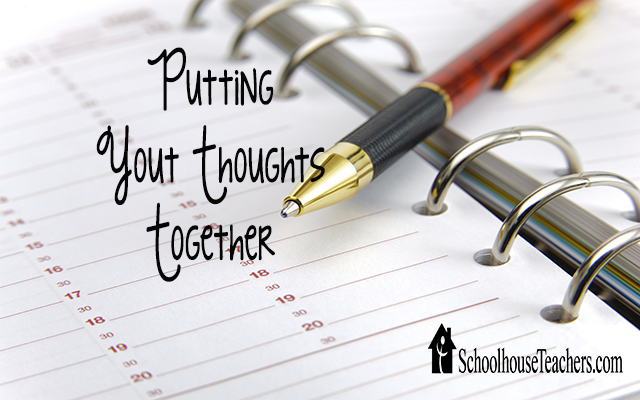 blog putting your thoughts together