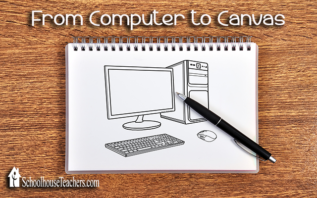 blog computer to canvas