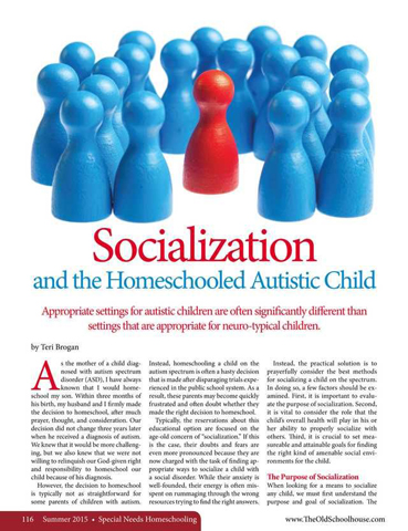 the issue of socialization in homeschooling and the methods used in home education This report attempts to provide a perspective on the disadvantages of homeschooling of homeschooling education  to handle the issue of homeschooling within.