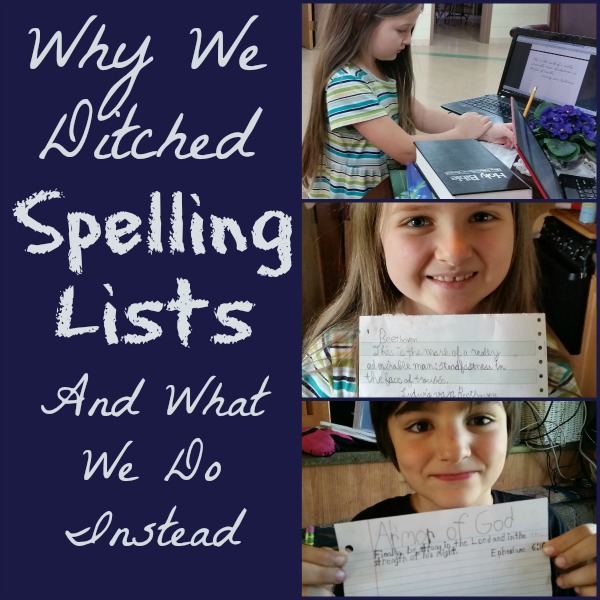 Why We Ditched Spelling Lists and What We Do Instead