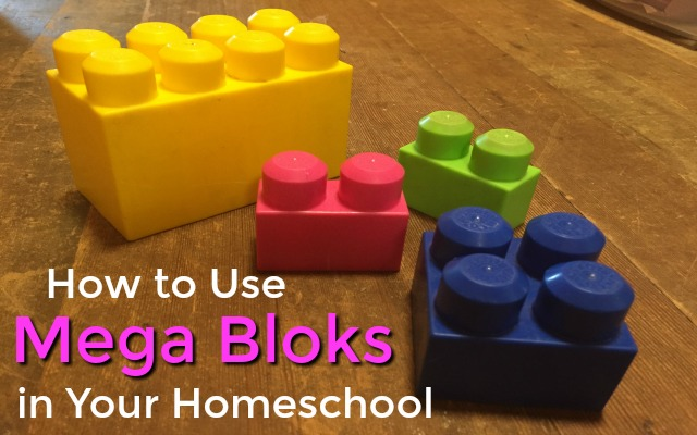 use mega bloks in your homeschool