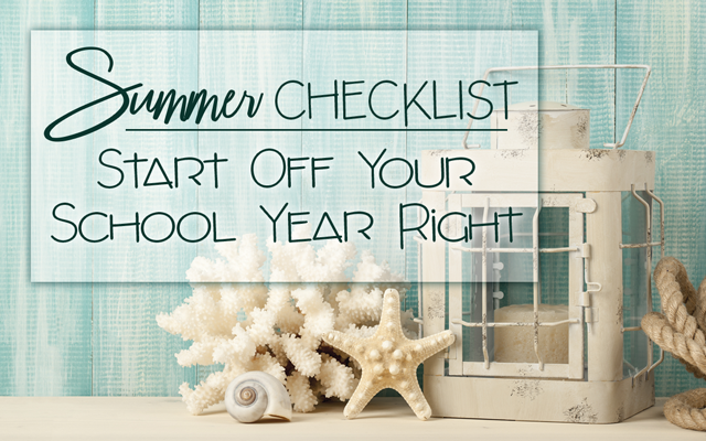 summer checklist