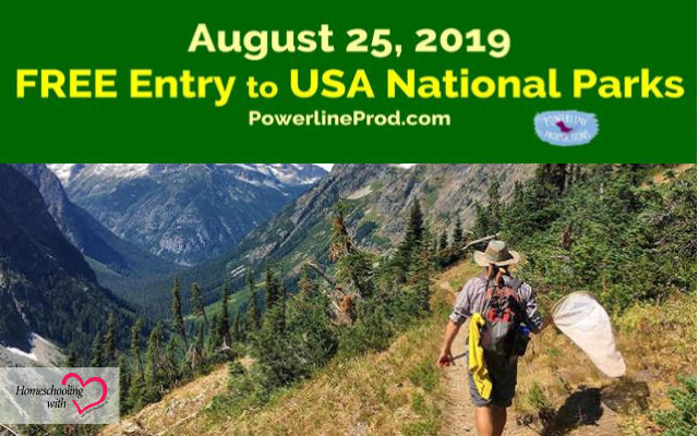 August 25 Free Entrance Day to National Parks