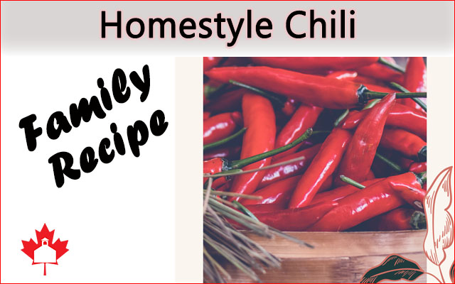 Homestyle Chili Family Recipe The Old Schoolhouse
