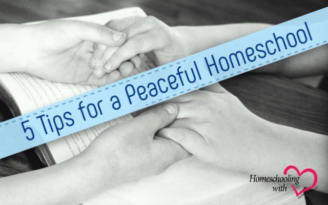 peaceful homeschool