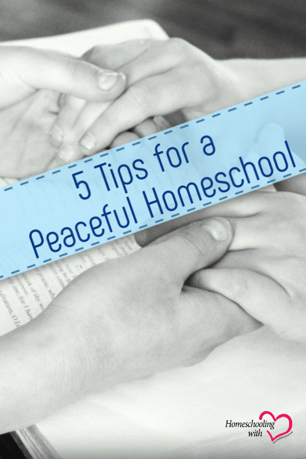 peaceful homeschool