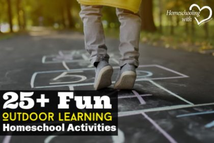 outdoor learning homeschool activities