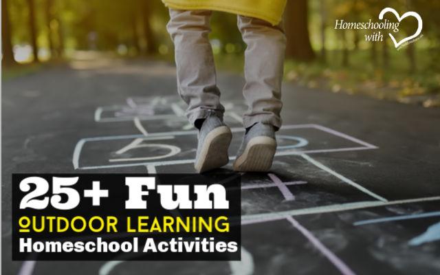 outdoor learning homeschool activities