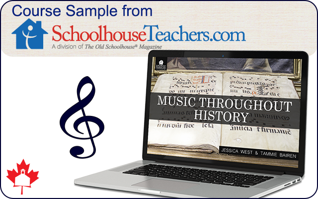 Music Throughout History - Course Sample from SchoolhouseTeachers.com