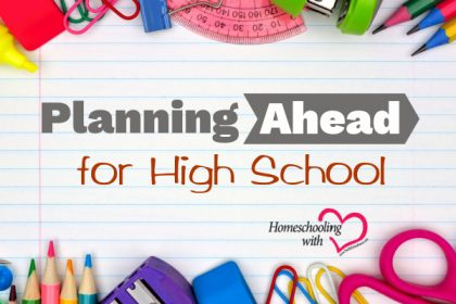 planning ahead for high school