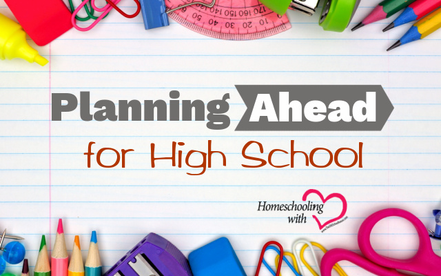 planning ahead for high school
