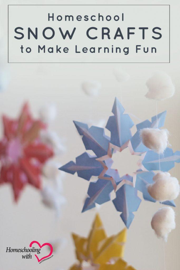 homeschool snow crafts