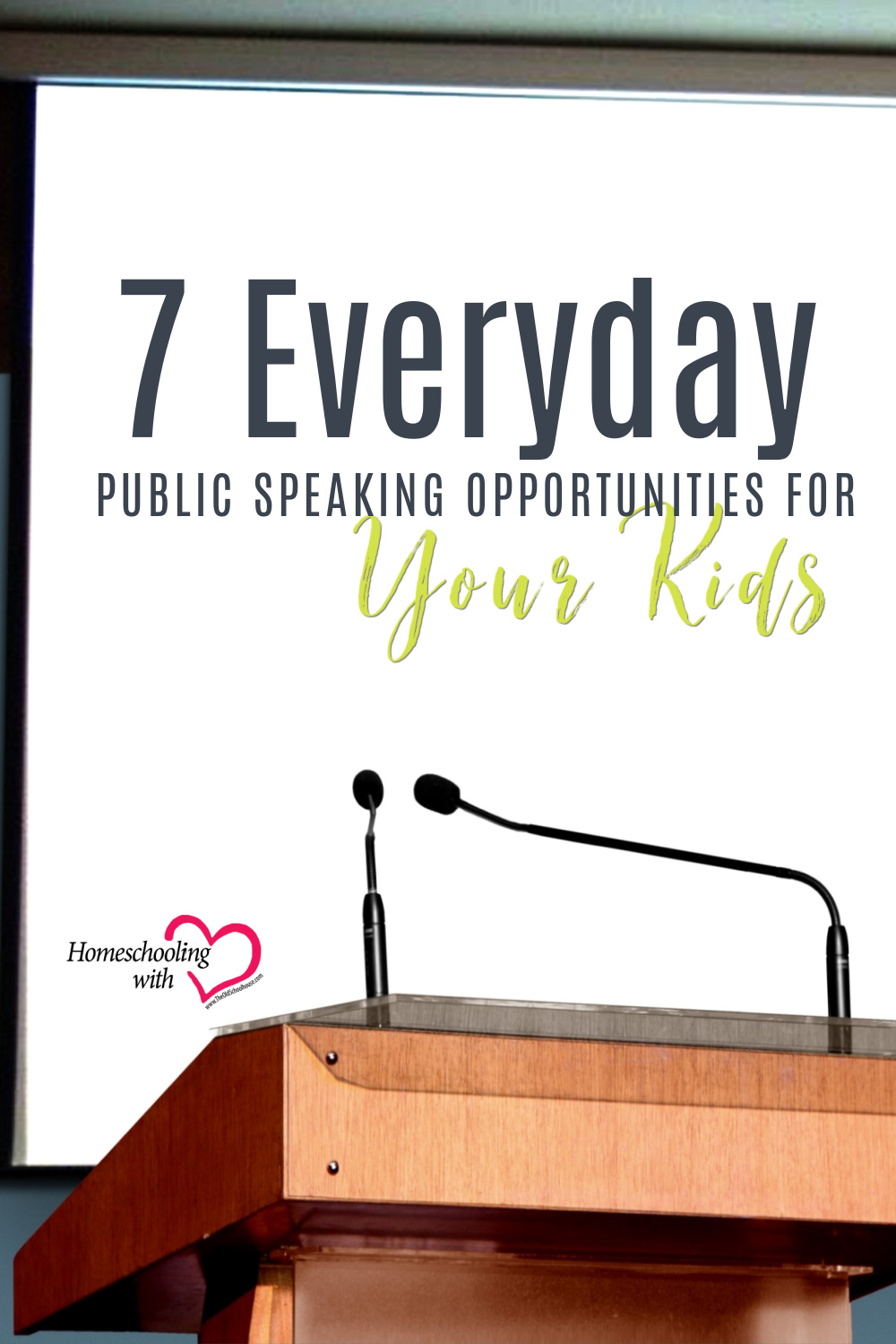 public speaking opportunities for kids
