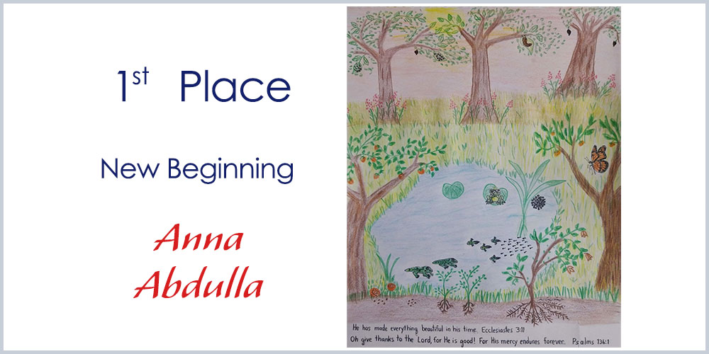First Place winner drawing - New Beginning by Anna Abdulla