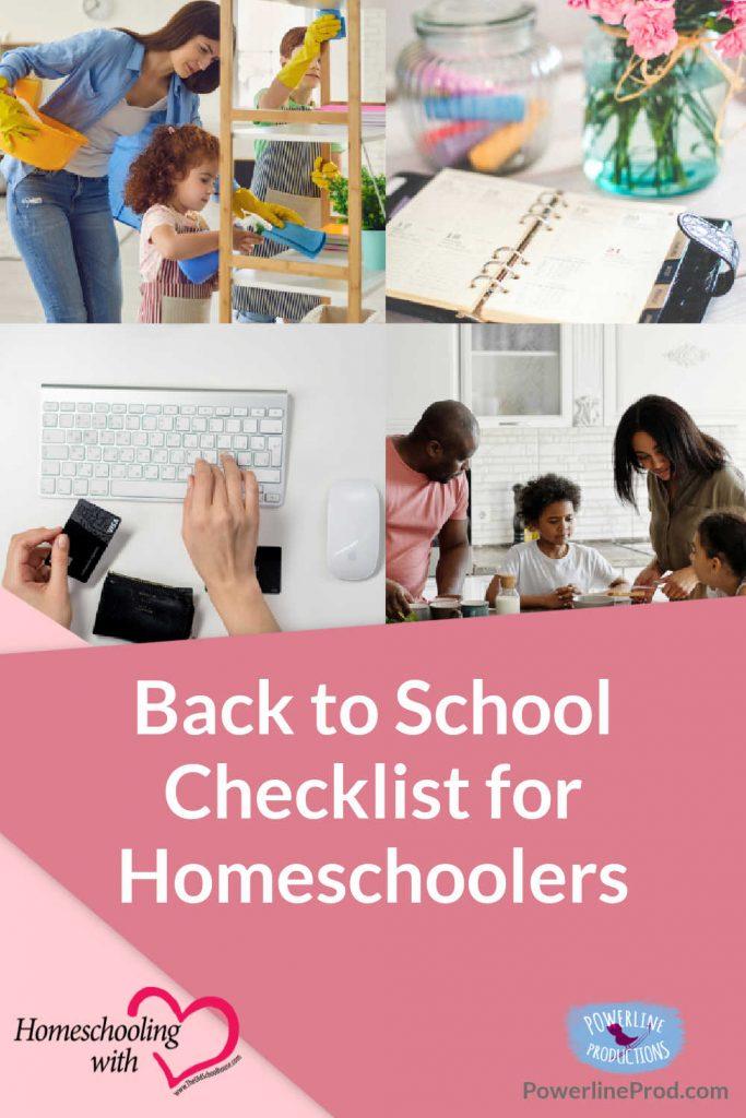 Back to School Checklist for Homeschoolers