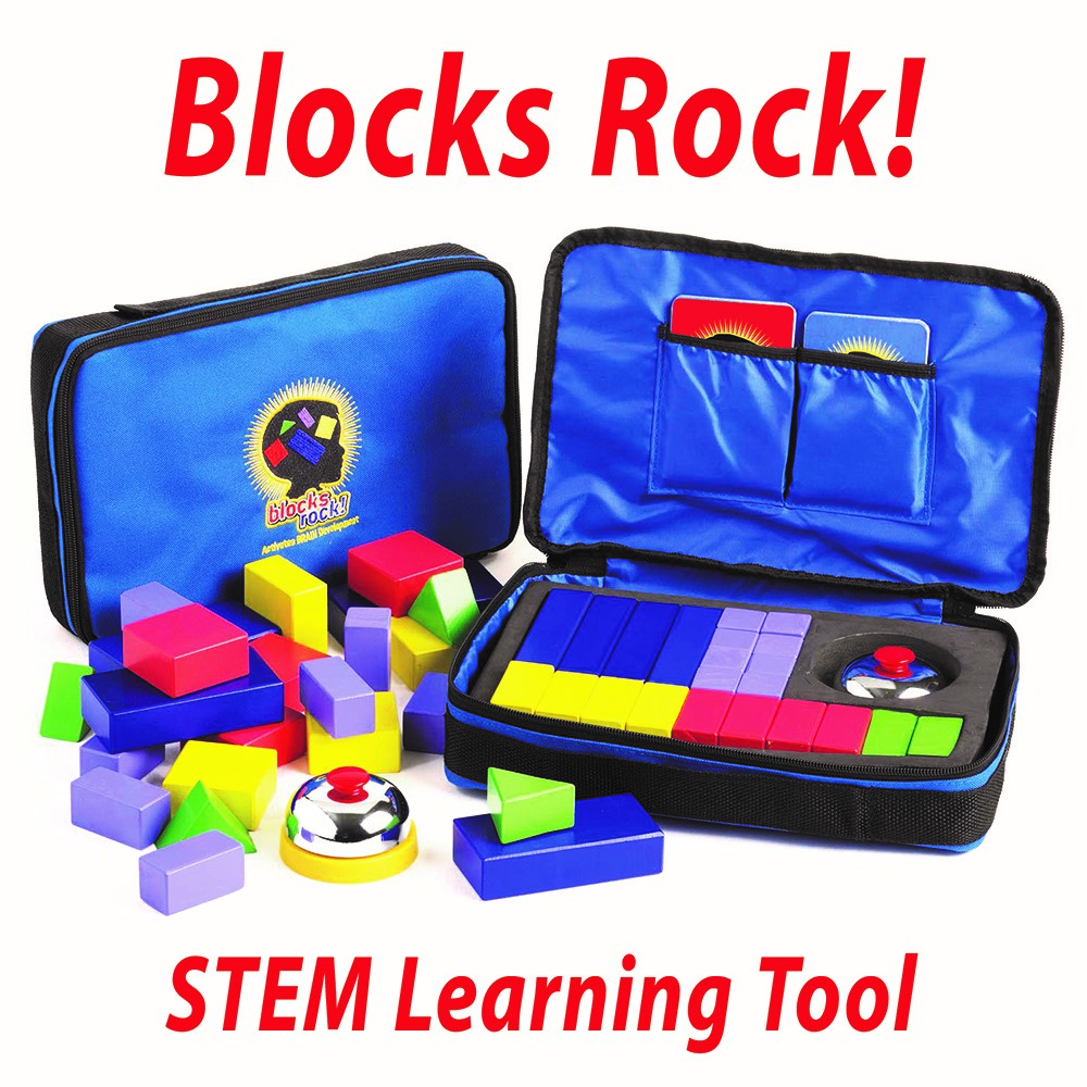 a loose set of the Blocks Rock STEM game and a set grouped together in its packaging