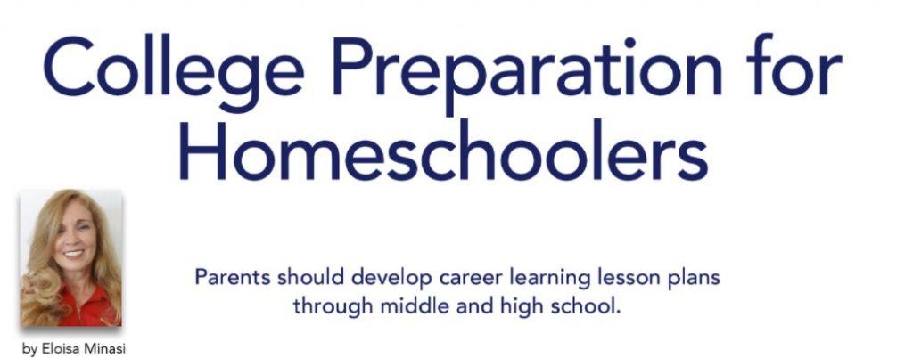 College Preparation for Homeschoolers by Eloisa Minasi
