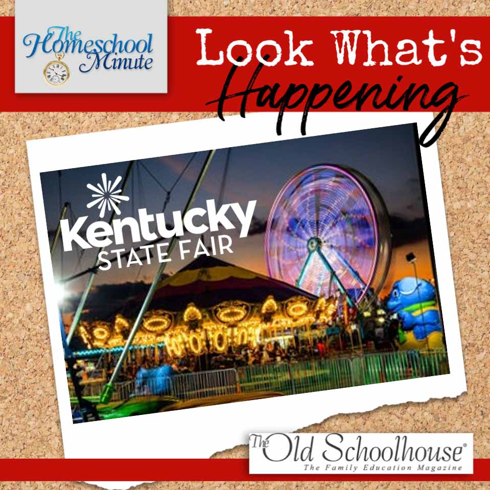 a photo of the Kentucky State Fair on a cork board