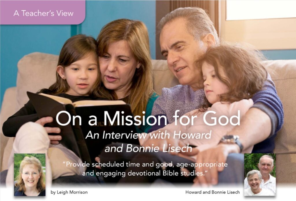 A family reading the Bible and the headline One a Mission for God