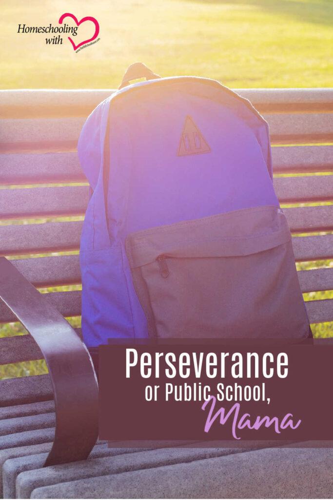 Hey Mama Monday: Perseverance or Public School, Mama