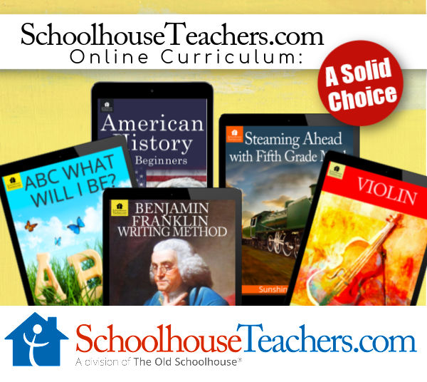 SchoolhouseTeachers.com Online Curriculum: A Solid Choice with five digital devices displaying different online classes